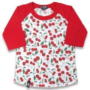 T-shirt Cherries six bunnies pour enfant