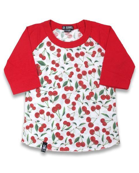 T-shirt Cherries six bunnies pour enfant