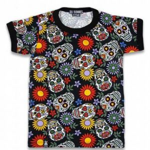 Tee-shirt six bunnies Sugar Skull