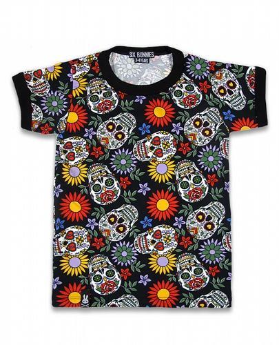 Tee-shirt six bunnies Sugar Skull