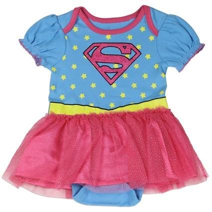 Robe bébé supergirl
