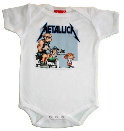 Grenouillère Metallica pour bébé