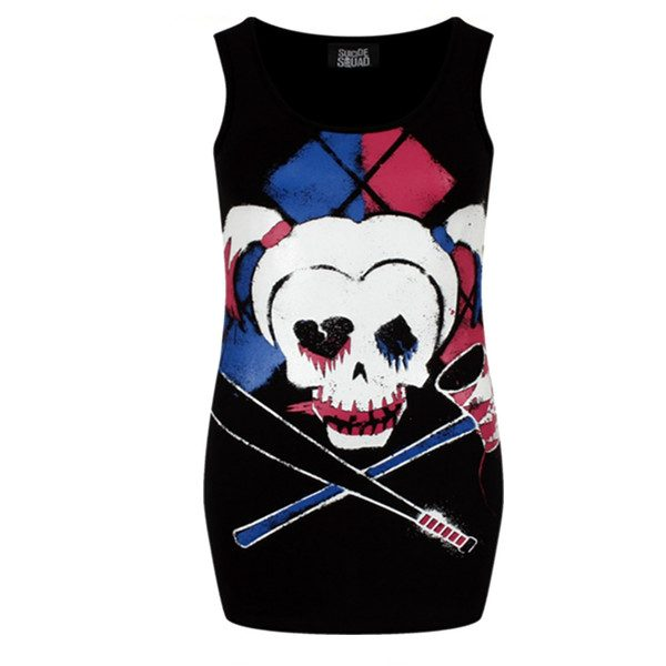 Top Suicide Squad Skull Harley Quin