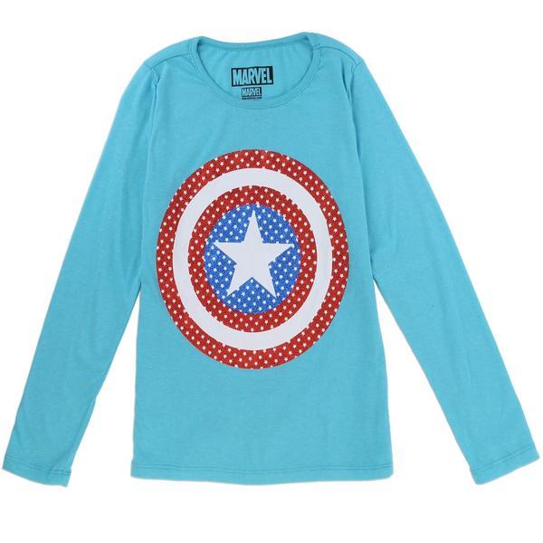 """Tshirt Marvel """"Captain America"""" fille"""