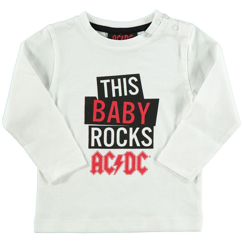 Tee shirt ac dc pour bébé