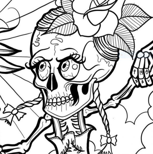 Coloriage tête de mort