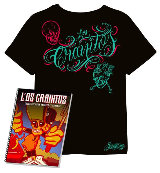 Pack T-shirt et coloriages L'os Cranitos